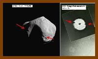 Asteróide 253 Mathilde apresenta crateras de extração do solo de formato característico e condizente com os objetos não-identificados filmados na missão STS-75.