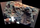 Meteorito Block Island, em Marte.