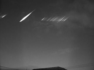 Meteoro retornando à invisibilidade.