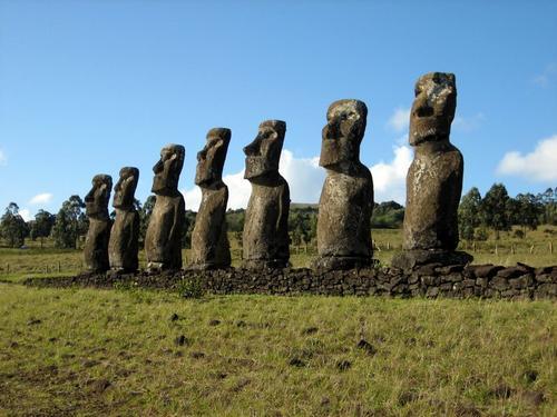Moai na Ilha de Páscoa.