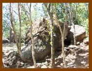 Pedra quina, visão lateral.